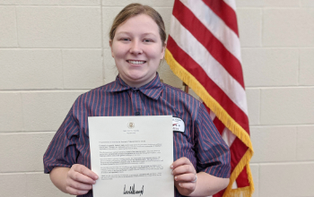 Vantage student is awarded the President's Volunteer Service Award
