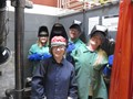 Students in welding booth