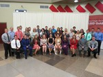 Group photo of male and female students inducted in the National Technical Honor Society