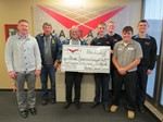 Photo of Vantage Students presenting a donation to the Payne American Legion Post 297