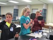 Campers Brushing Teeth in Health Tech