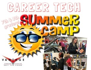 Vantage Career Tech Summer Camp Flyer