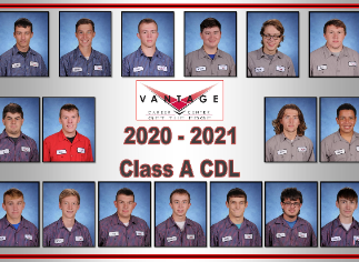 Congratulations to our Vantage 2020-21 Seniors Who Earned Their Class A CDL