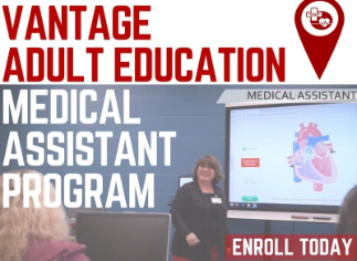 Flyer for the Adult Education Medical Assistant Program