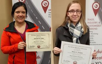 Vantage adult students earn their Adult Diploma.
