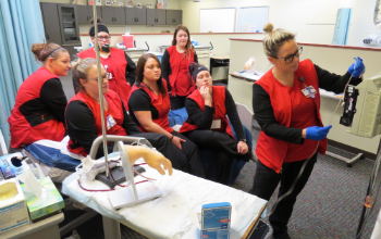 Vantage Practical Nursing program students train in lab.