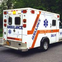 Photo of an ambulance vehicle