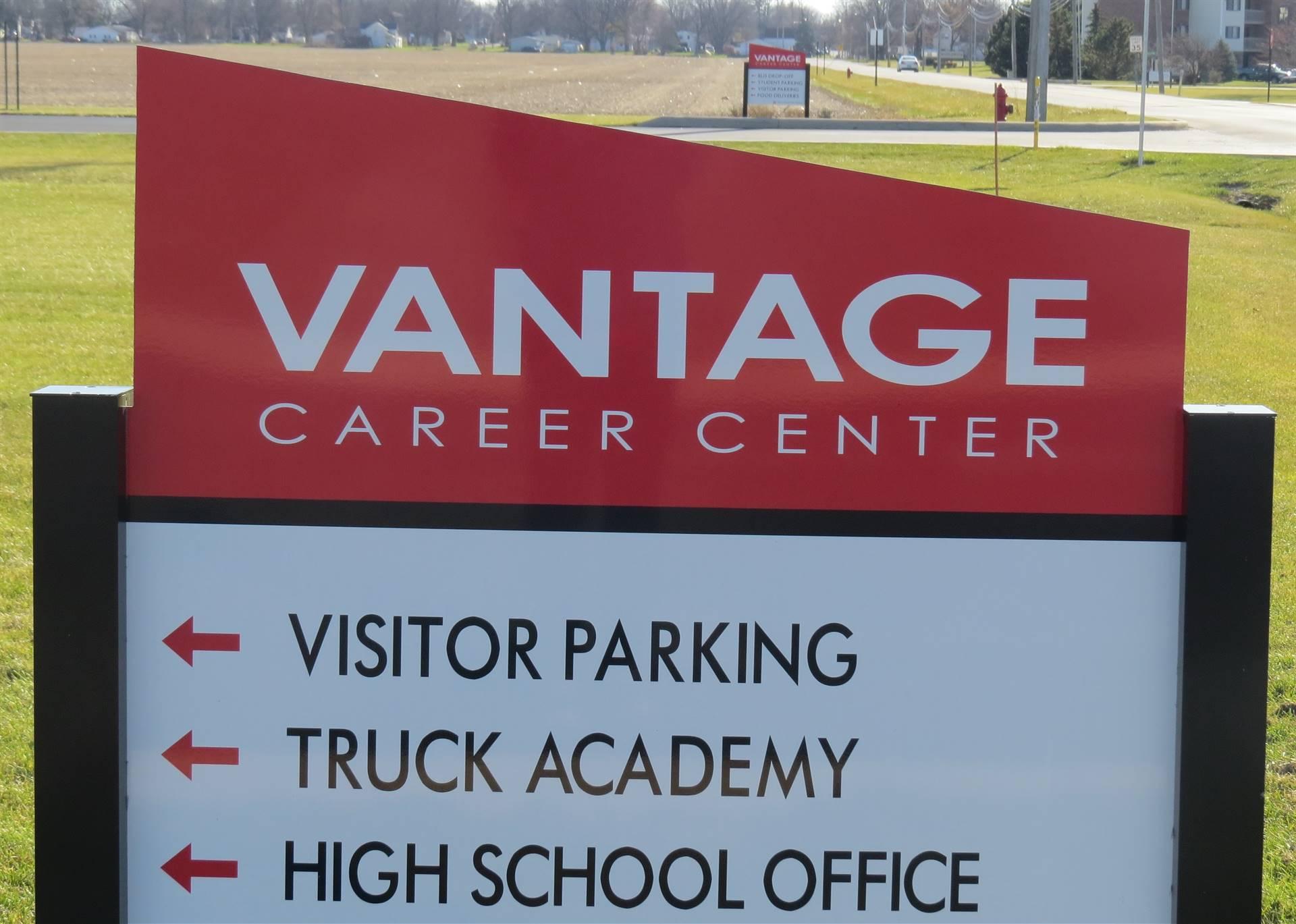 Entrance sign to Vantage campus