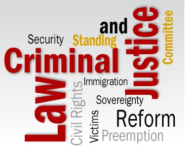 Word Cloud of Criminal Justice words