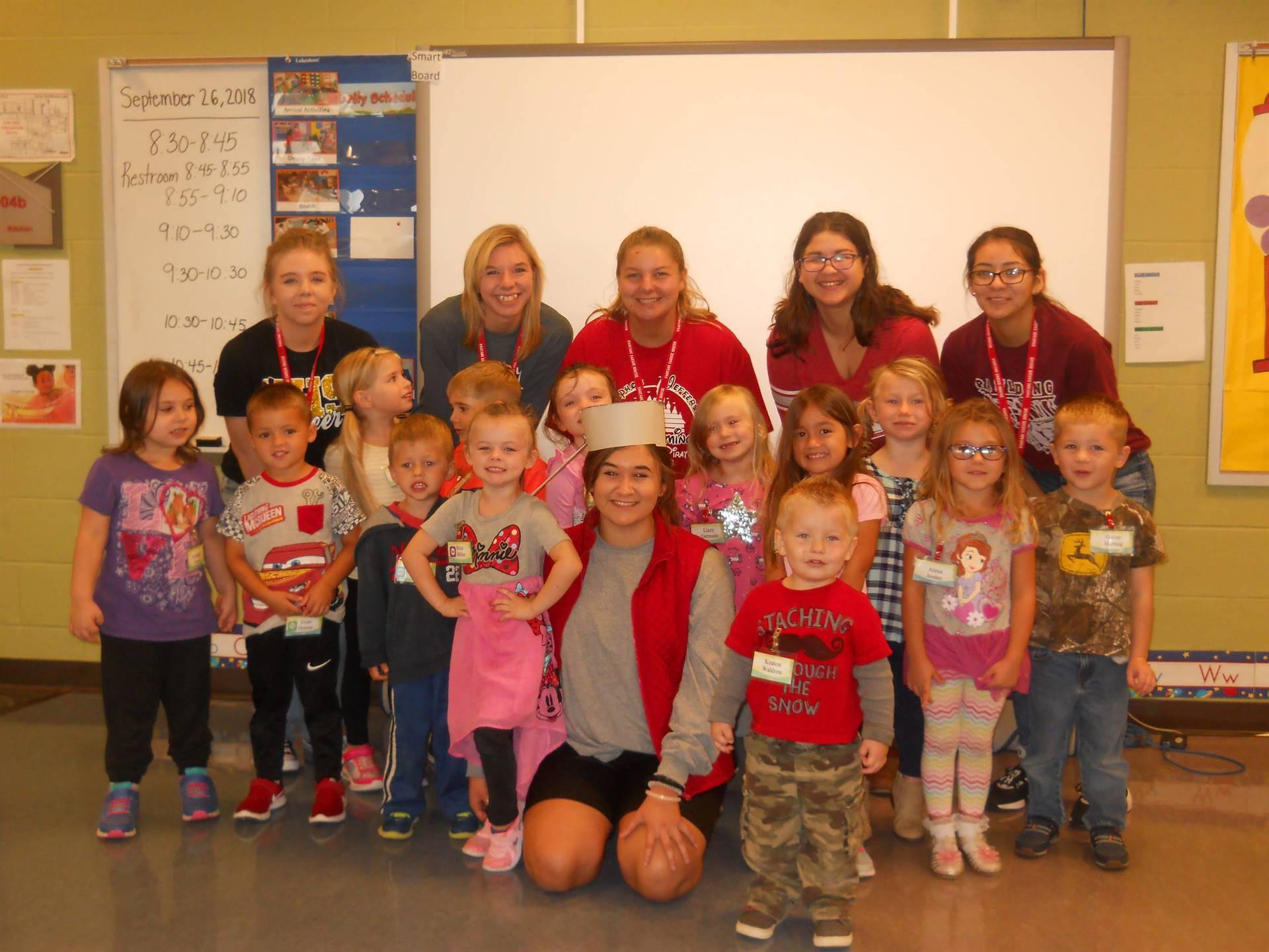 Preschool celebrates Johnny Appleseed.