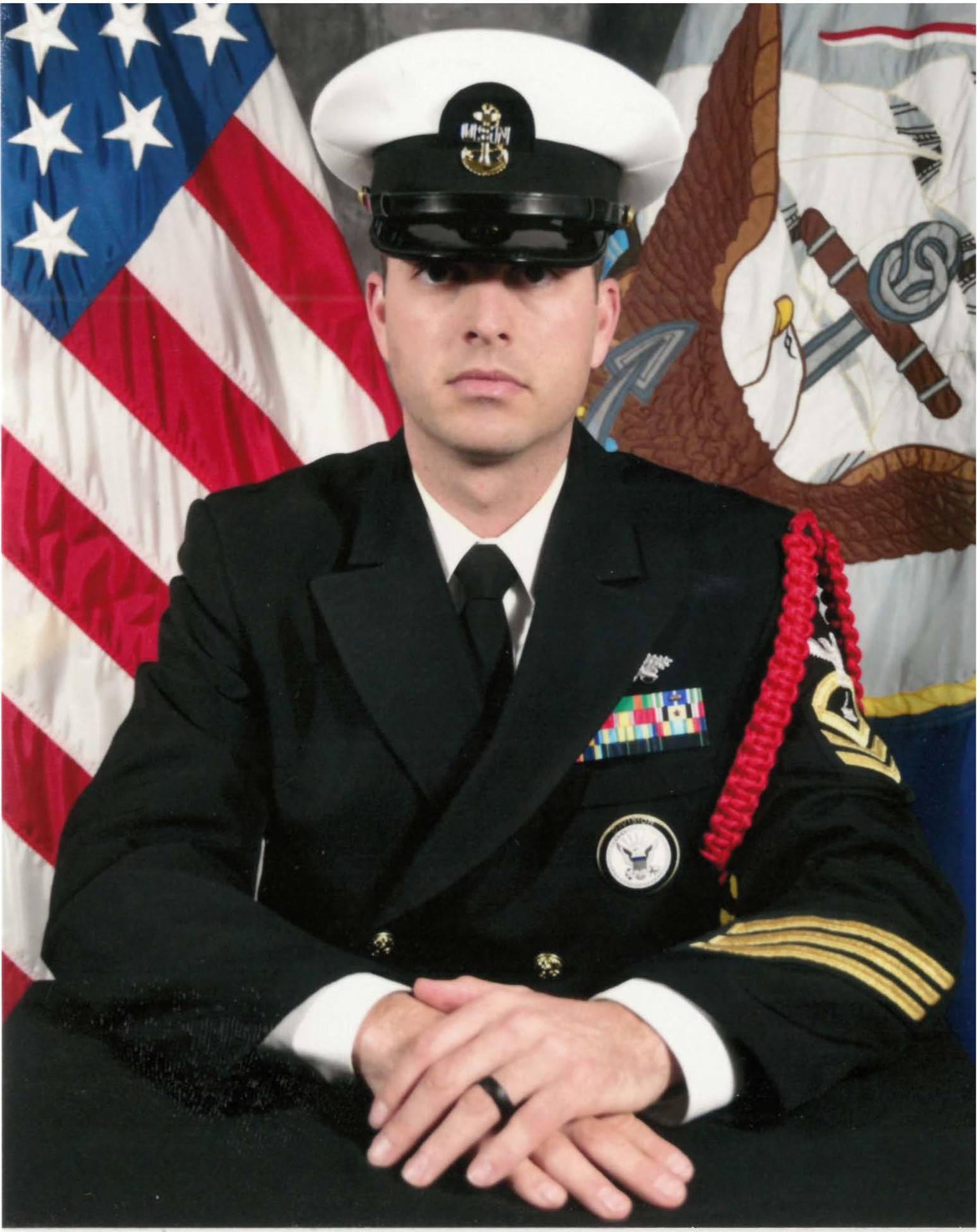 Male alumnus in his Navy uniform