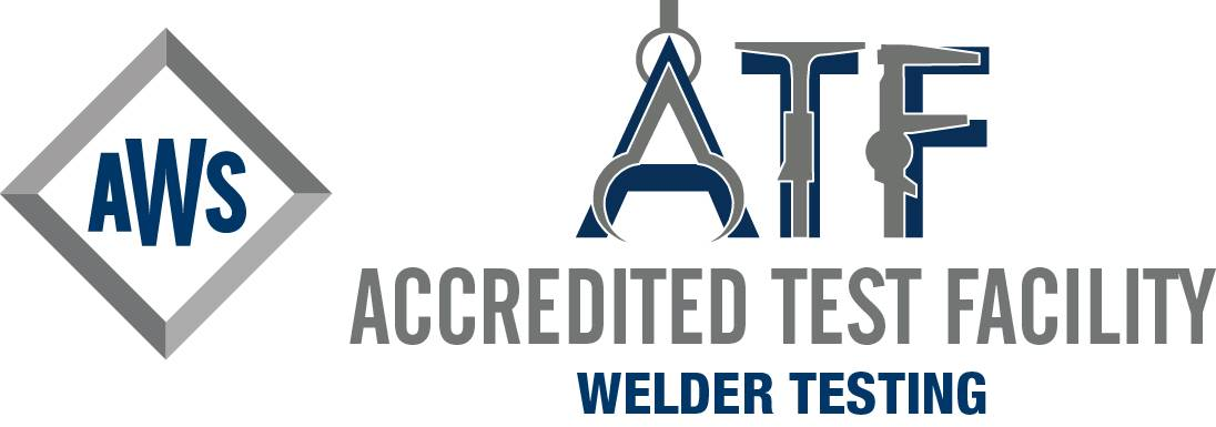 Official American Welding Society logo for Accredited Test Facilities