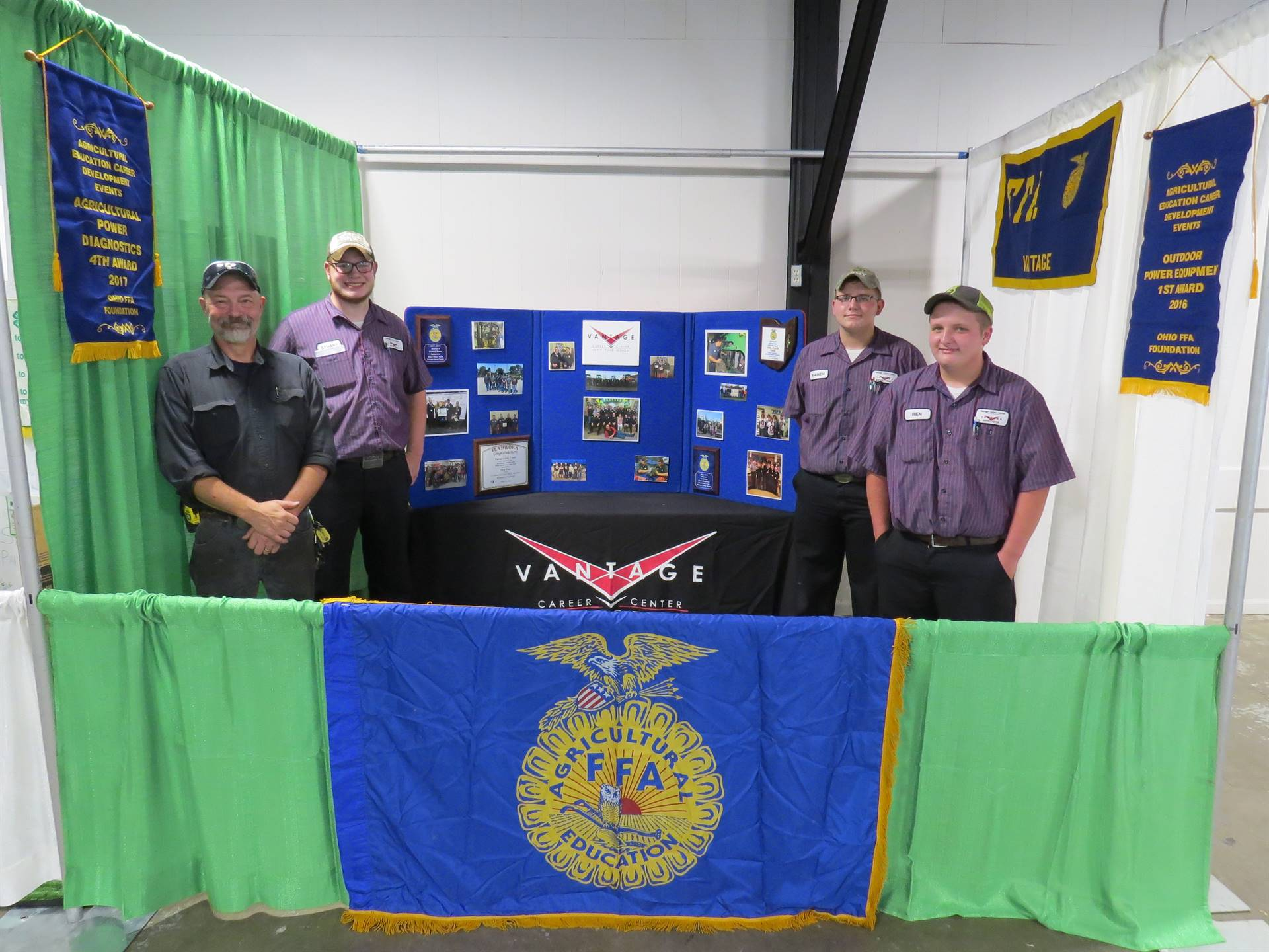 Ag and Industrial Power Tech and FFA students set up at the fairgrounds.