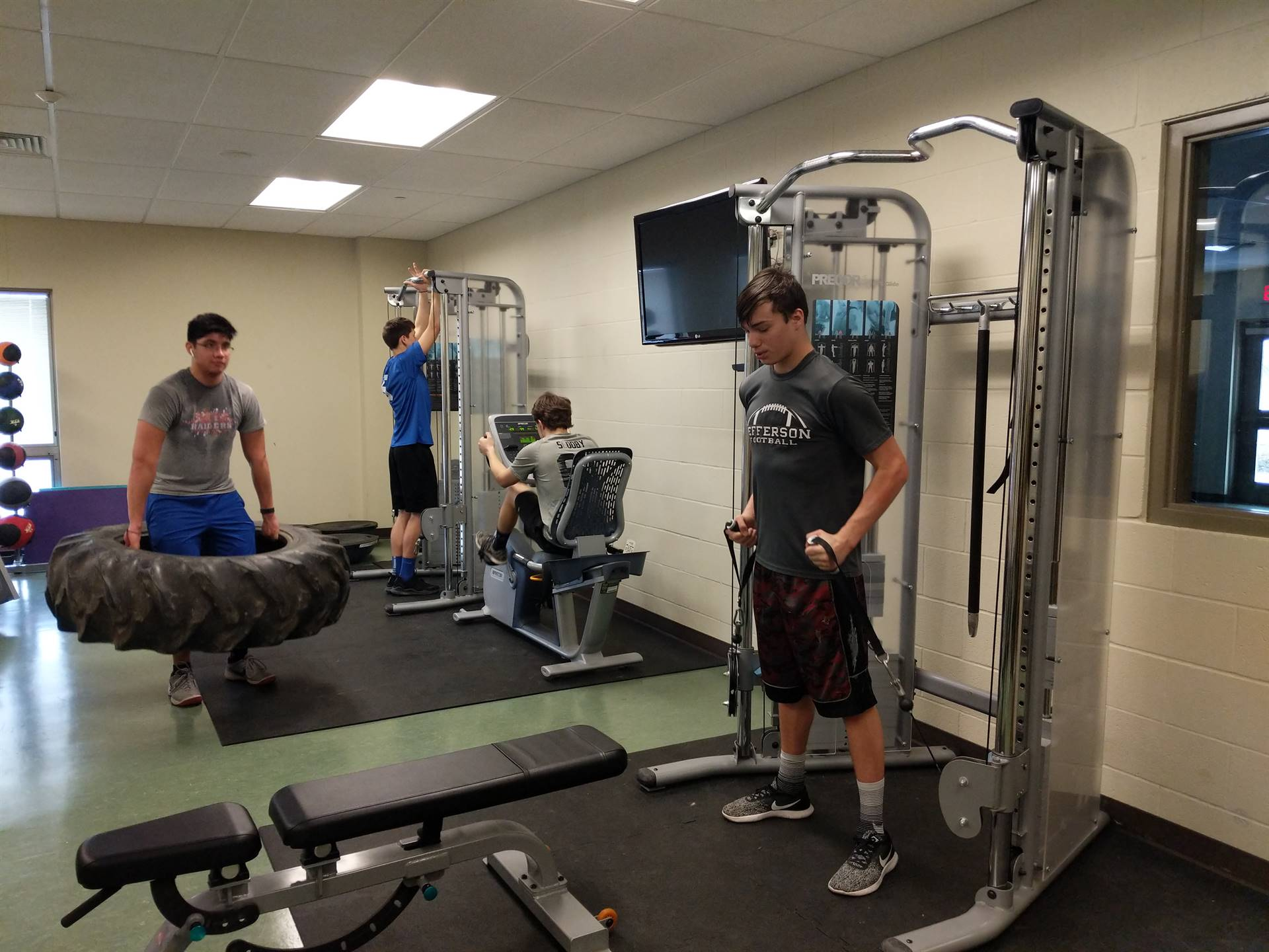Criminal Justice students use the work our lab as part of their physical fitness.