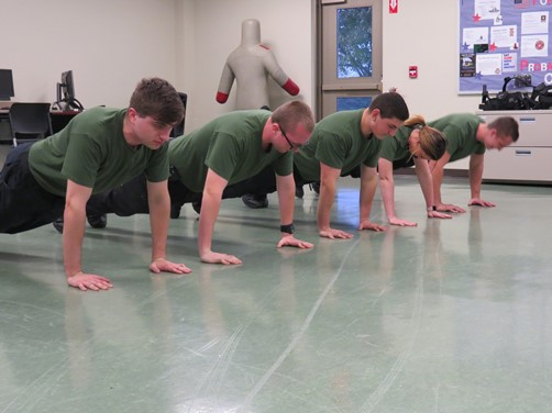 Vantage Ohio Technical Center Police Academy works on physical training.