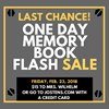 Last Chance Memory Book Flash Sale